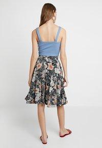 mint&berry - A-line skirt - white/black - 2