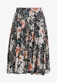 mint&berry - A-line skirt - white/black - 3