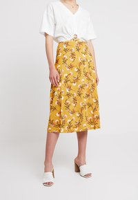 mint&berry - A-lijn rok - yellow/black - 0