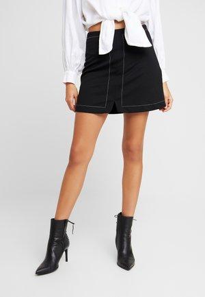 Spódnica trapezowa - white/black