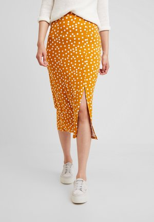 Pencil skirt - yellow/white