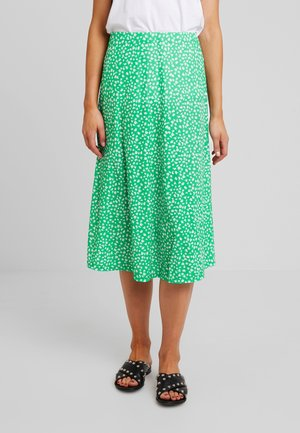 Maxi skirt - white/green