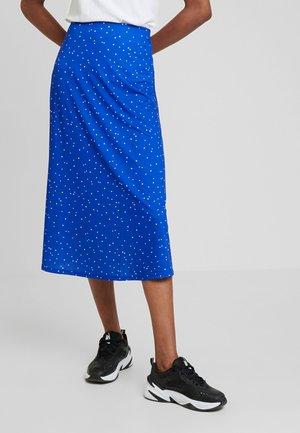 Falda larga - white/blue