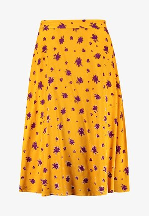 A-line skirt - yellow/lilac