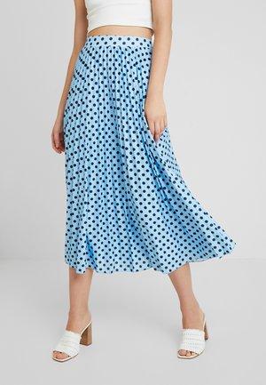 Plisovaná sukně - light blue/dark blue