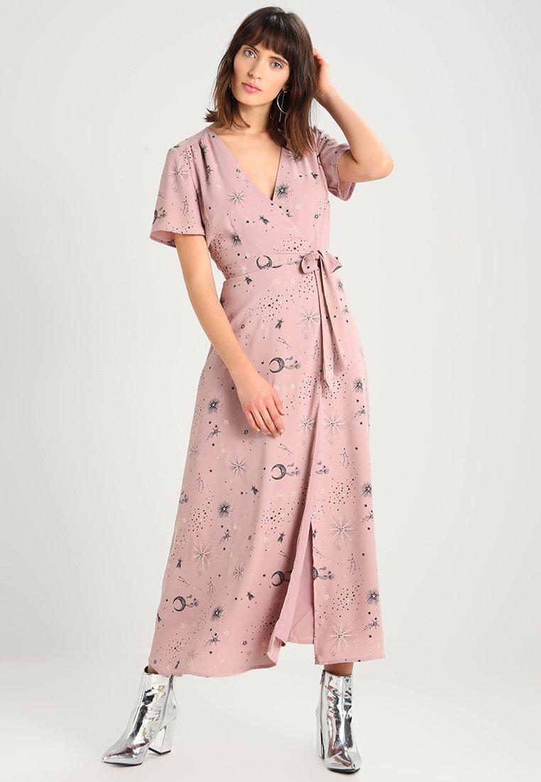 Maxi Cache D'été CoeurRobe Wrap Rose Mint amp;berry Dress WH2DIYE9