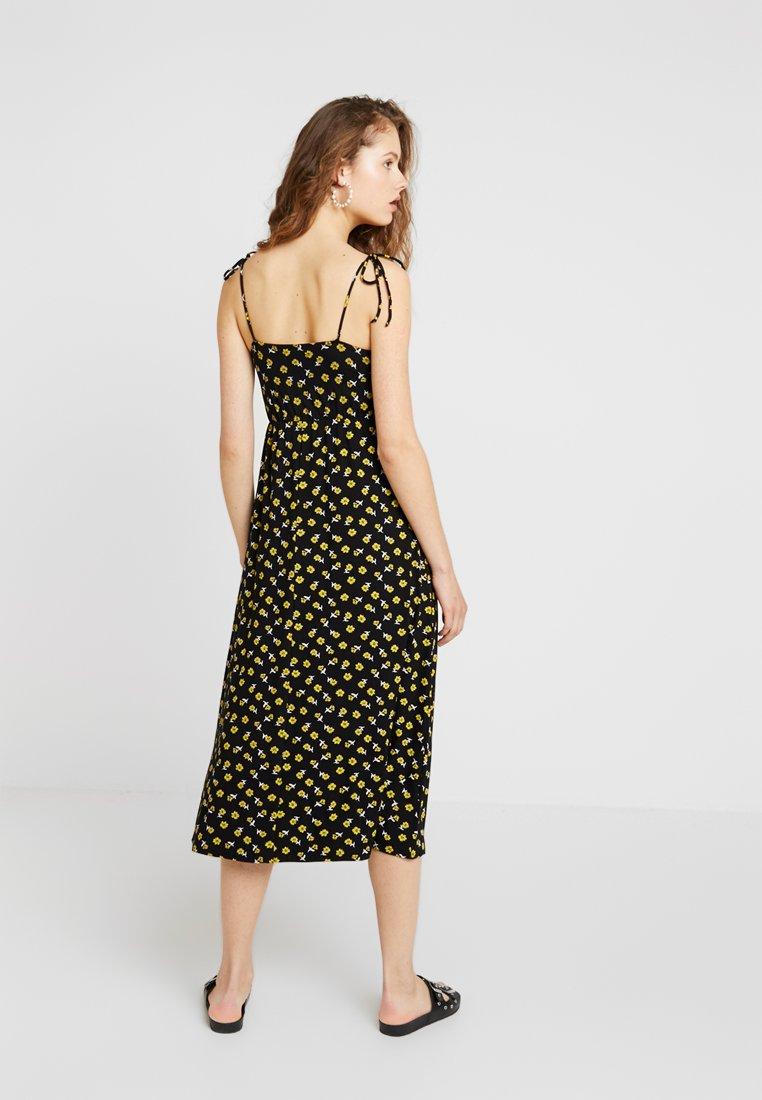 mint&berry - Maxi dress - black/yellow