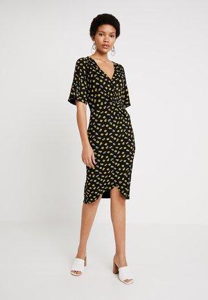 Vestito di maglina - black/yellow