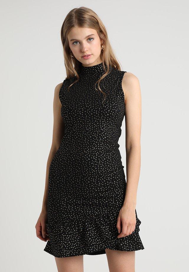 Sukienka z dżerseju - gold/black