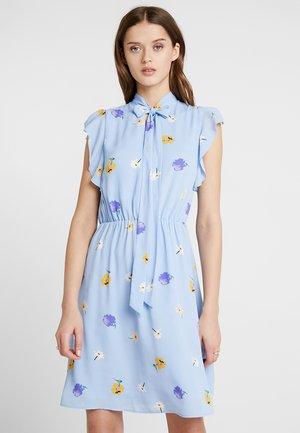 SHORTSLEEVE DRESS WITH RUFFLE - Day dress - blue