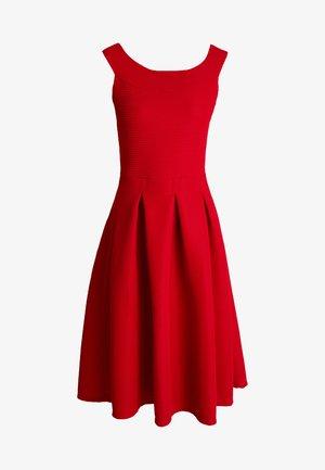 Jersey dress - crimson
