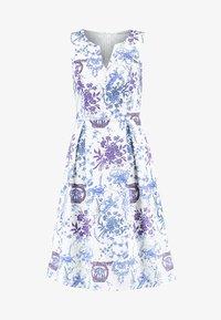 mint&berry - Freizeitkleid - light blue/white - 4