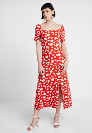 Jersey dress - white/red