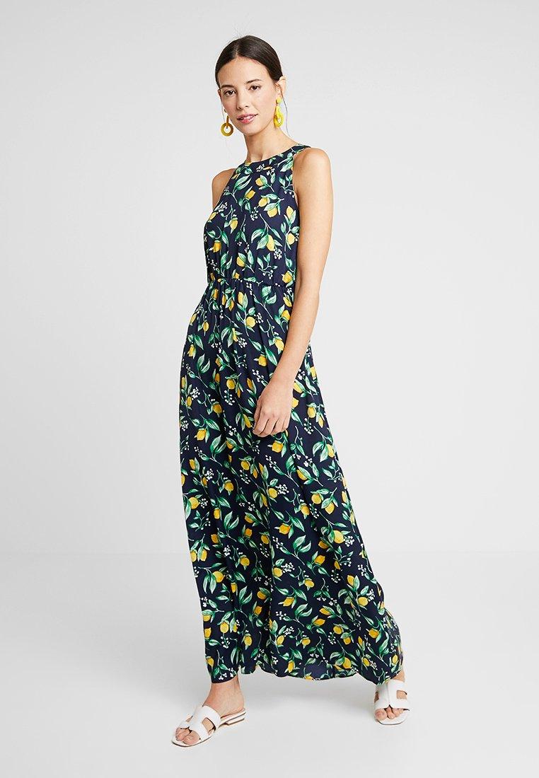 mint&berry - Maxi dress - yellow/dark blue