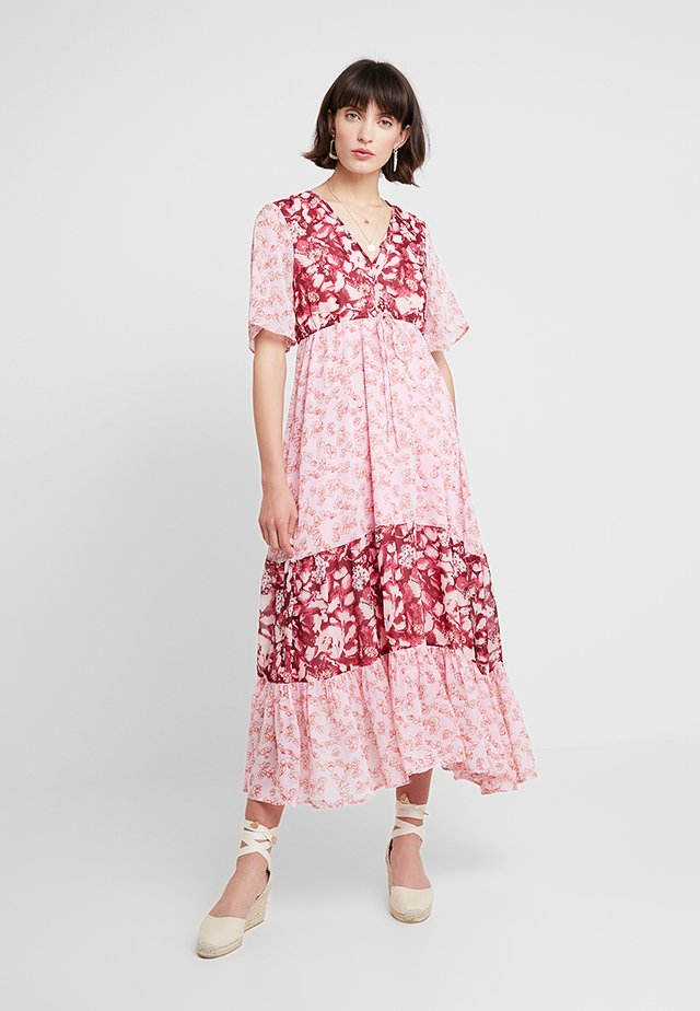 Vestido largo - bordeaux/rose