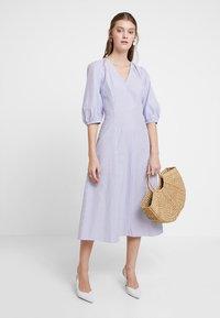 mint&berry - Day dress - white/light blue - 1