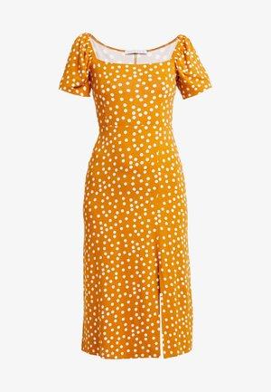Žerzejové šaty - yellow/white