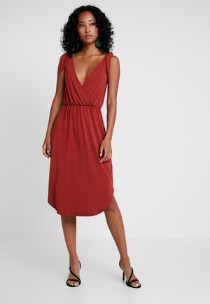 Jersey dress - red ochre