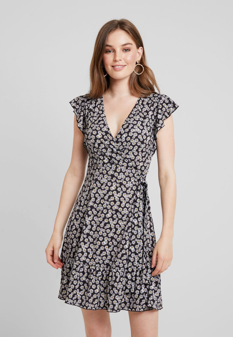 mint&berry - Jerseykleid - black / white
