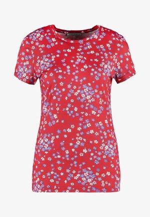 Print T-shirt - red/blue