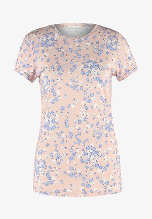 T-shirts med print - light blue/taupe
