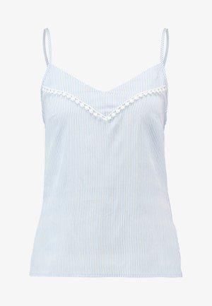 Top - off-white/light blue