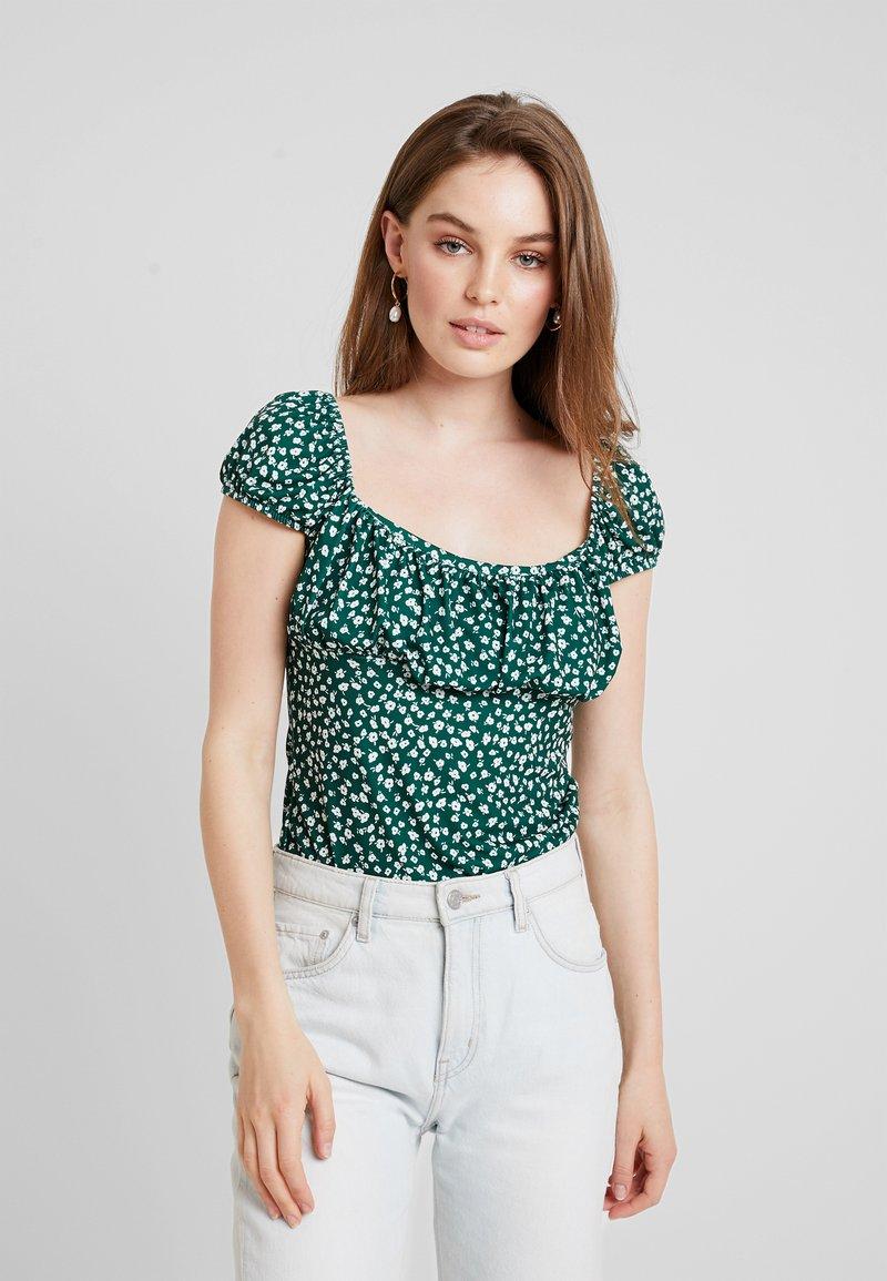 mint&berry - Print T-shirt - white/green