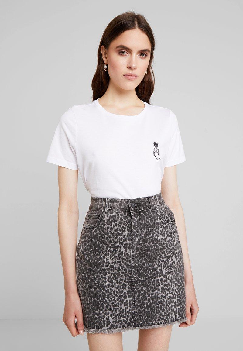 mint&berry - T-shirt med print - white