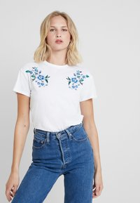mint&berry - T-shirt print - white/blue - 0