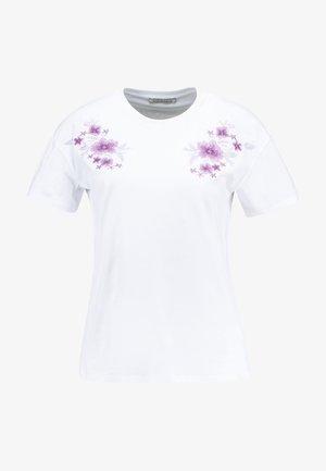 T-shirt z nadrukiem - white/lilac