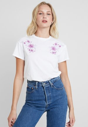 T-shirts med print - white/lilac