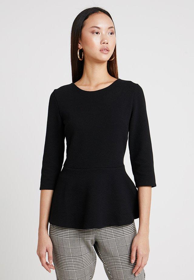 PEPLUM TOP - Bluzka z długim rękawem - gold/black
