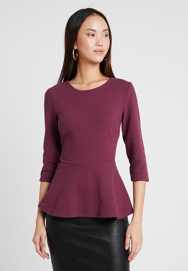 mint&berry - PEPLUM TOP - Long sleeved top - dark red
