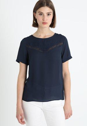 Blouse - navy blazer