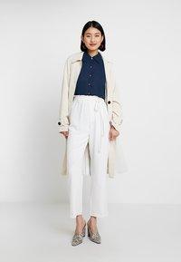 mint&berry - Button-down blouse - navy blazer - 1