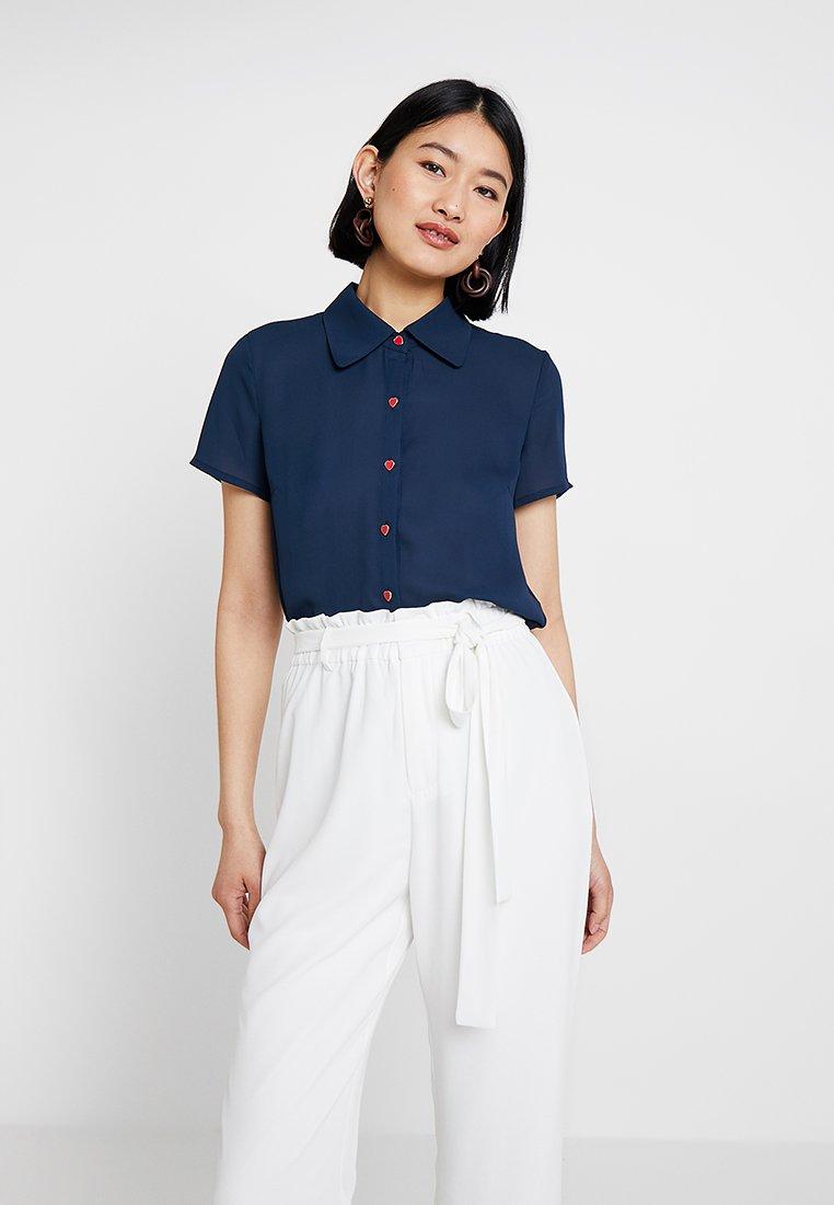 mint&berry - Button-down blouse - navy blazer