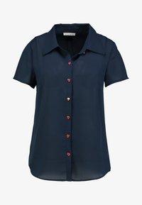 mint&berry - Button-down blouse - navy blazer - 3