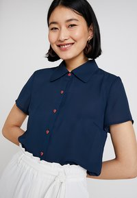 mint&berry - Button-down blouse - navy blazer - 4