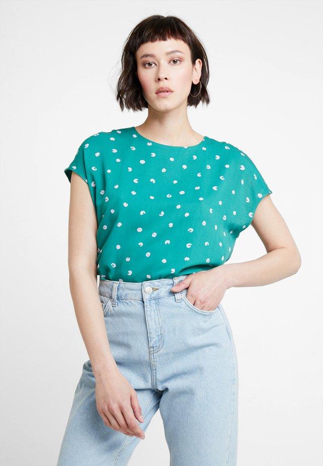 Blouse - green/lavendar
