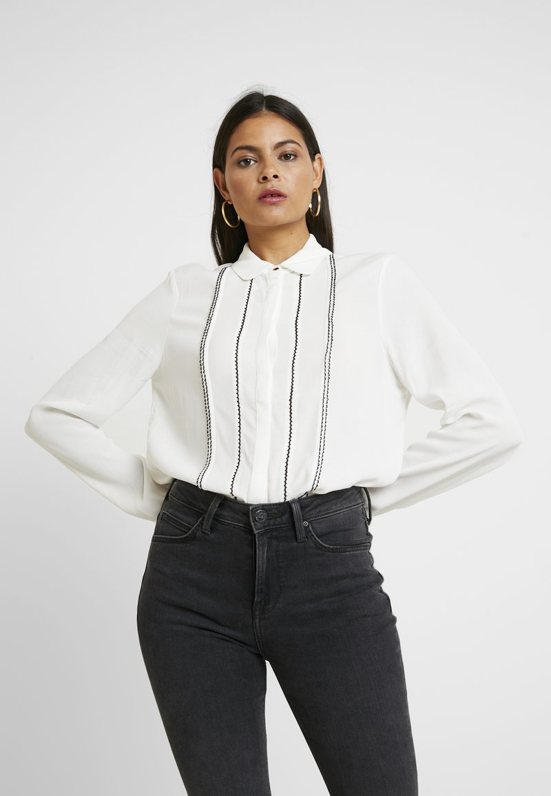 mint&berry - Button-down blouse - white/black