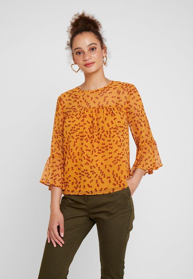 Blouse - yellow/brown