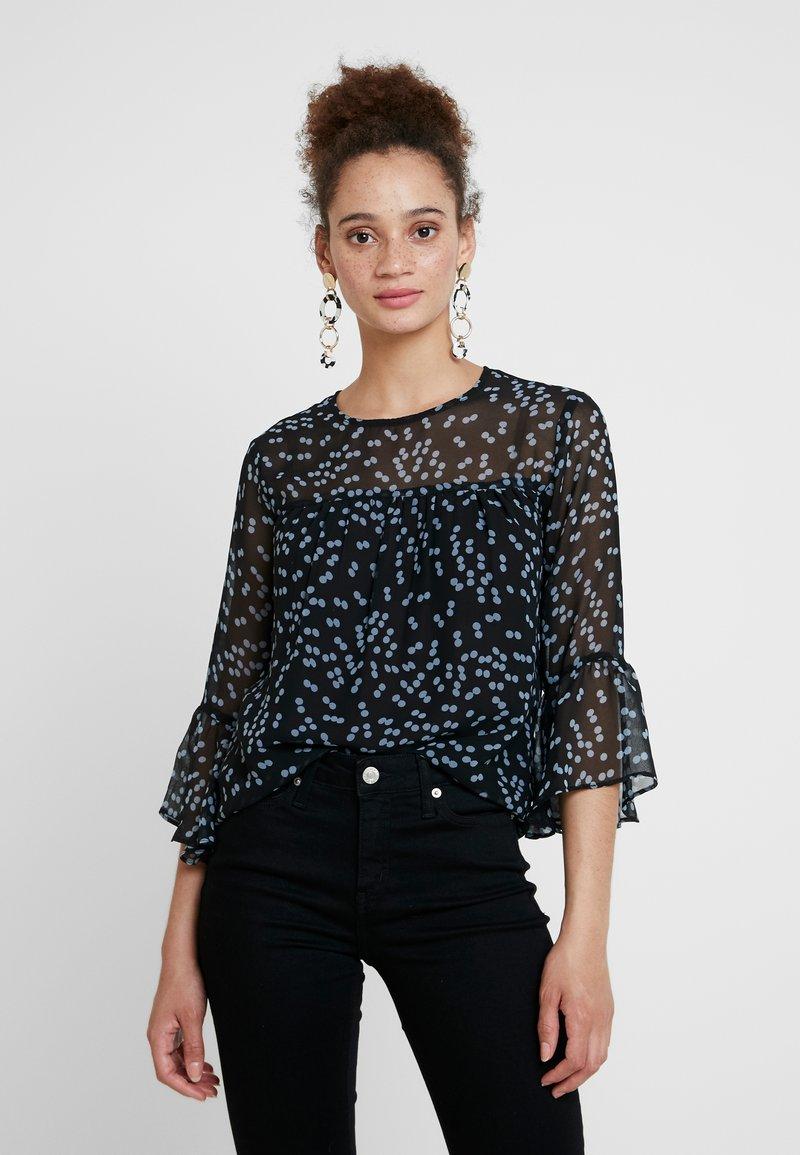 mint&berry - Bluse - black/light blue