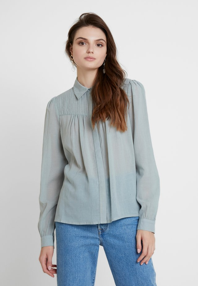 Button-down blouse - slate blue