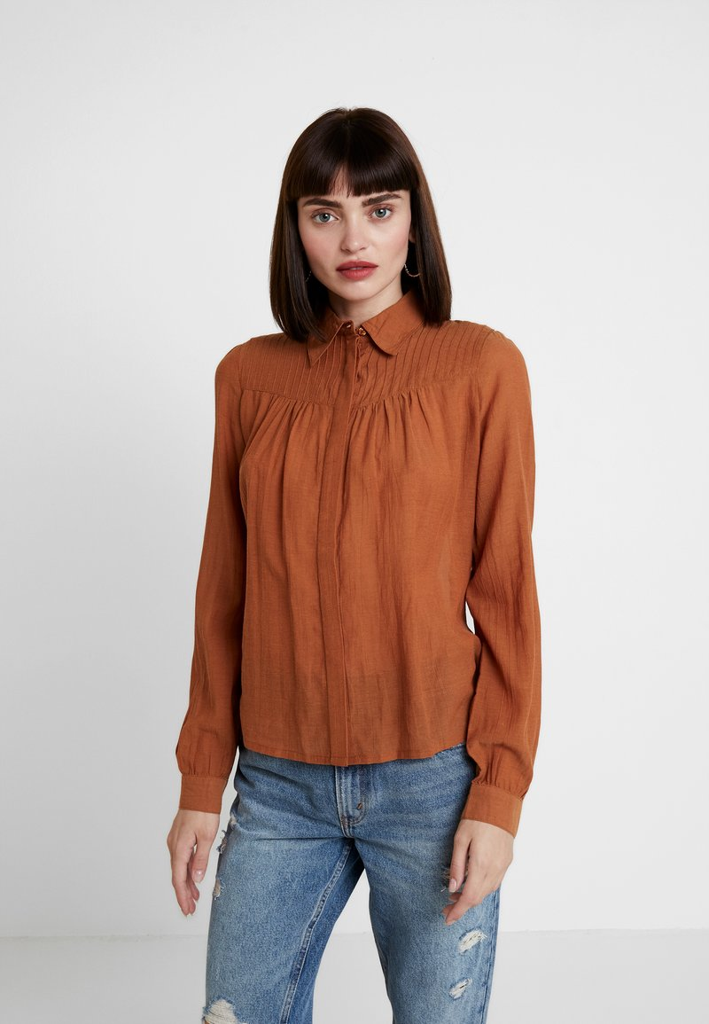 mint&berry - Button-down blouse - caramel cafe