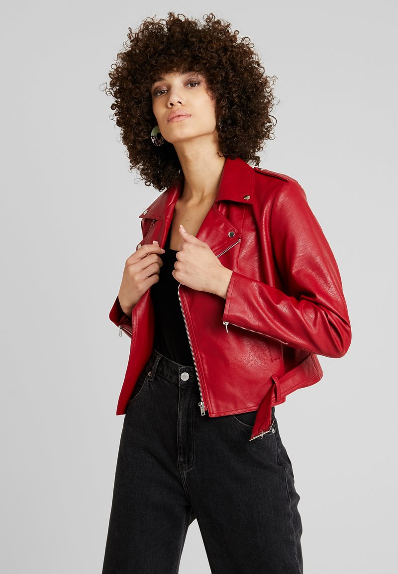 mint&berry - Faux leather jacket - chili pepper
