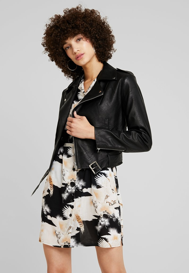 mint&berry - Faux leather jacket - black