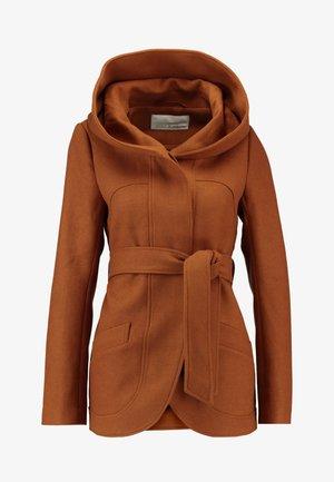 Krótki płaszcz - cognac