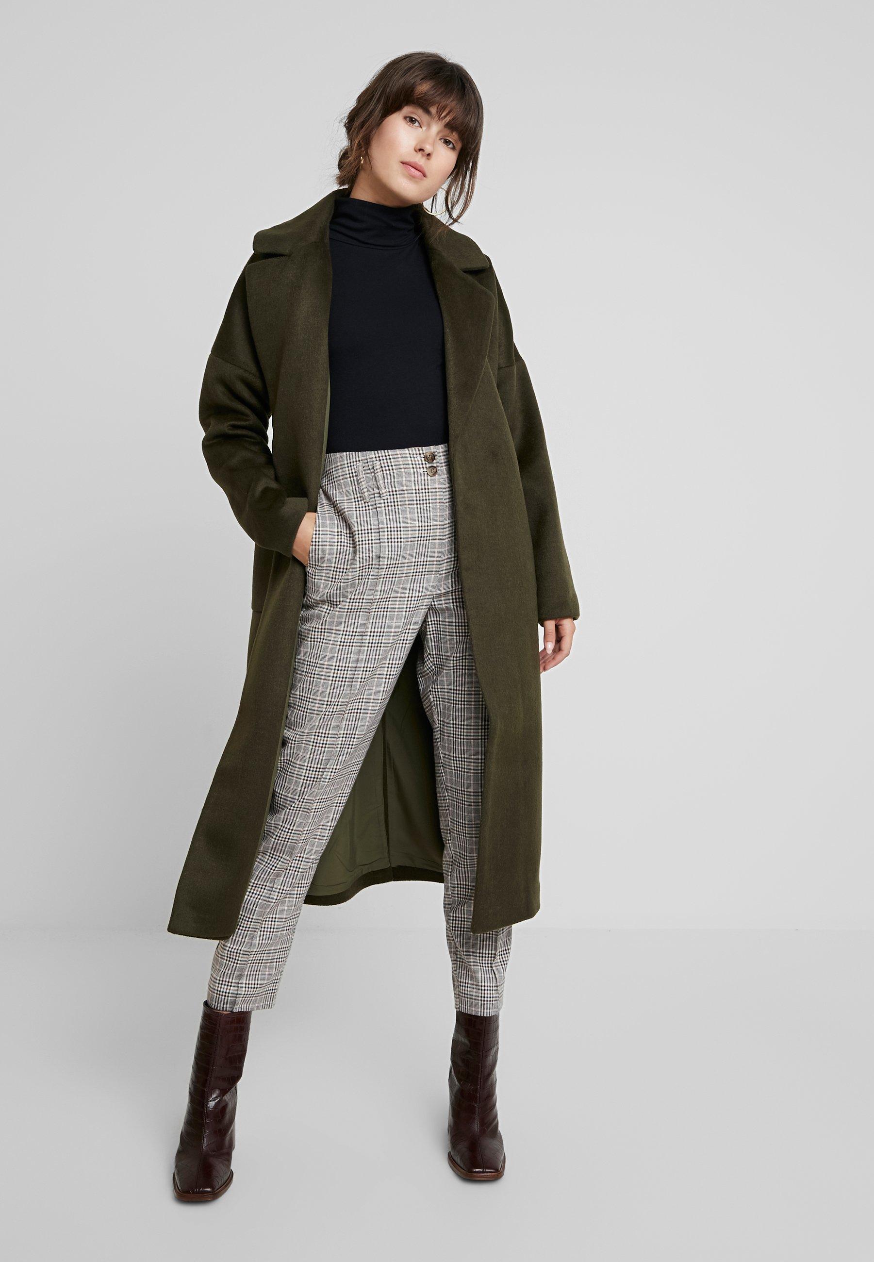 mint&berry Płaszcz wełniany /Płaszcz klasyczny - khaki