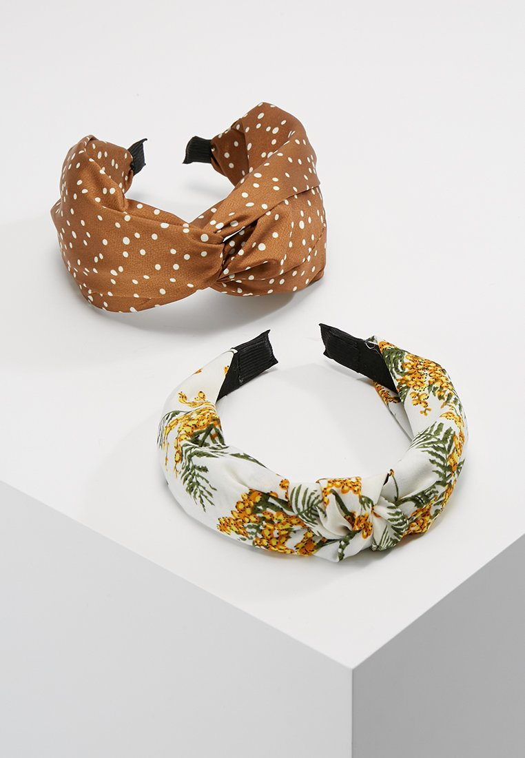 mint&berry - 2 PACK HEADBAND - Accessoires cheveux - mustard/white