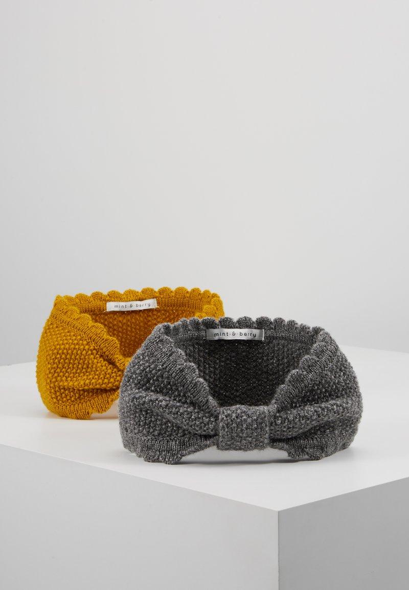 mint&berry - 2 PACK - Ohrenwärmer - dark grey/Yellow